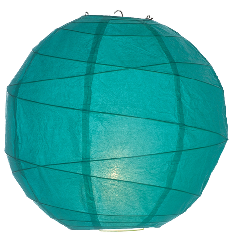 Seafoam Criss Cross Paper Lanterns