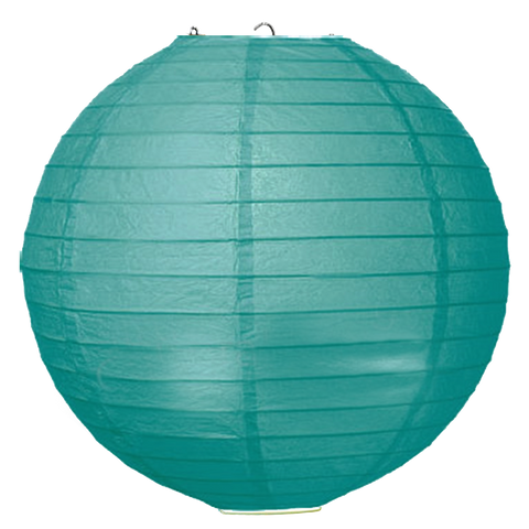 Seafoam Ribbed Paper Lanterns