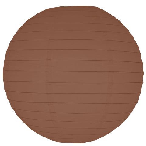 Sienna Brown Round Paper Lanterns.