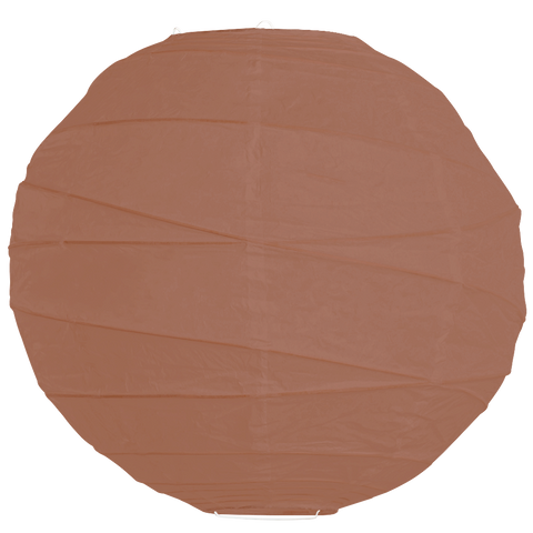 Sienna Brown Criss Cross Paper Lanterns.