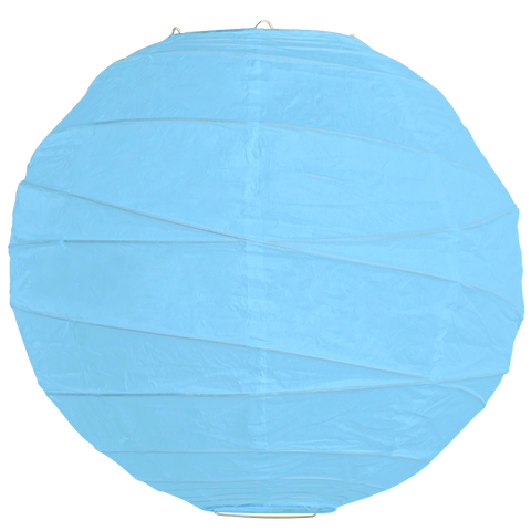 Sky Blue Criss Cross Paper Lanterns.