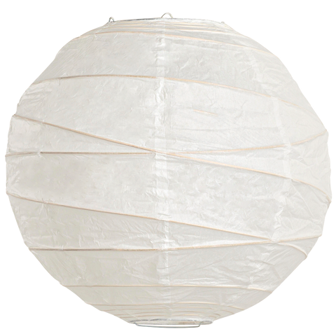 White Criss Cross Paper Lanterns.