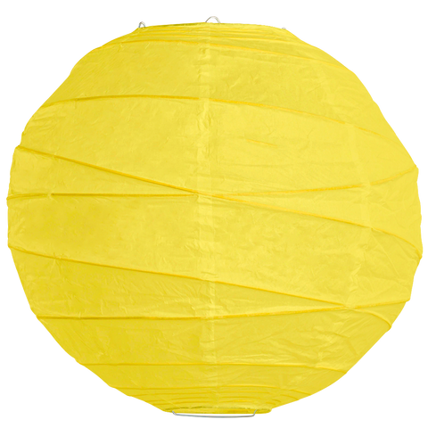 Yellow Criss Cross Paper Lanterns