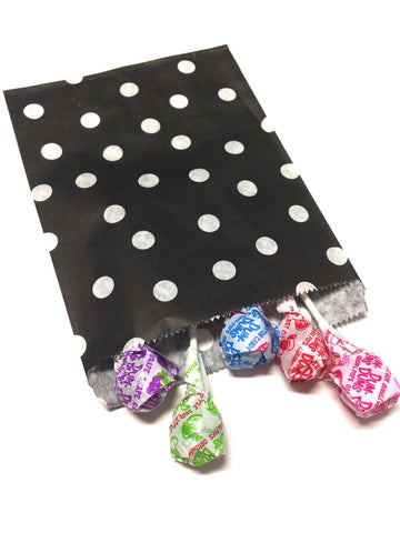 Black Polka Dots 20pc Paper Bags
