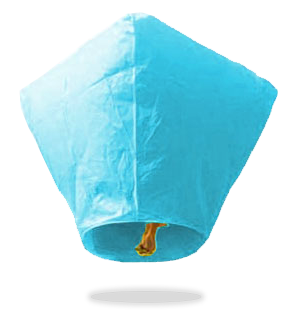 ECO Blue Diamond Sky Lanterns (Wire-Free)