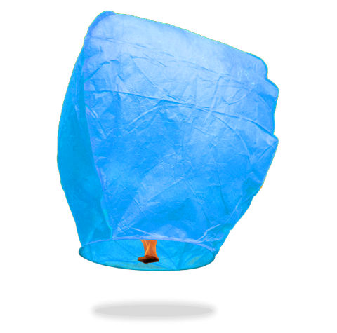 ECO Blue Eclipse Sky Lanterns (Wire-Free)