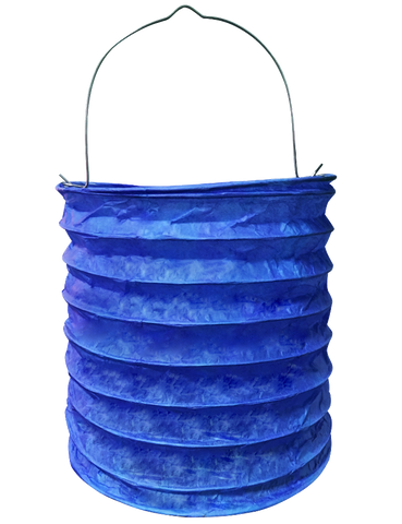 "6"" Blue Paper Candle Lanterns"