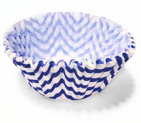Blue Chevron 25pc Cupcake Liners.