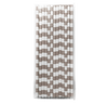 Concrete Rugby Striped 25pc Paper Straws