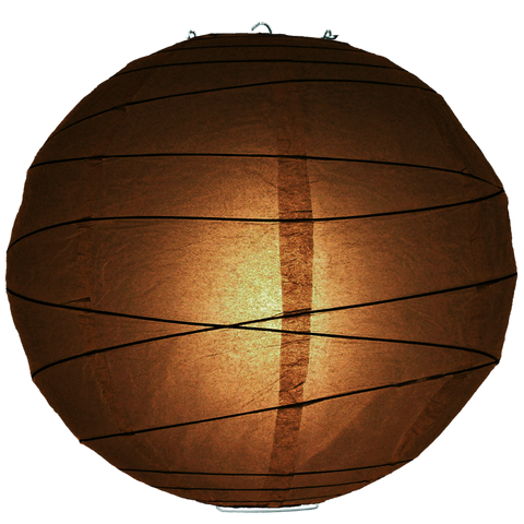 Dark Brown Criss Cross Paper Lanterns