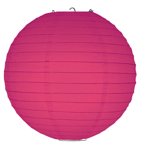 Dark Magenta Ribbed Paper Lanterns