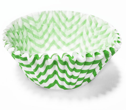 Green Chevron 25pc Cupcake Liners