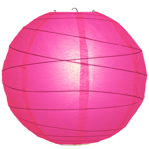 Fuchsia Criss Cross Paper Lanterns.