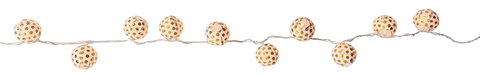 "3"" Gold Polka Dot String Paper Lanterns (10pcs)"