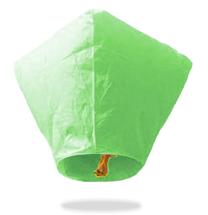 Green Diamond Sky Lanterns