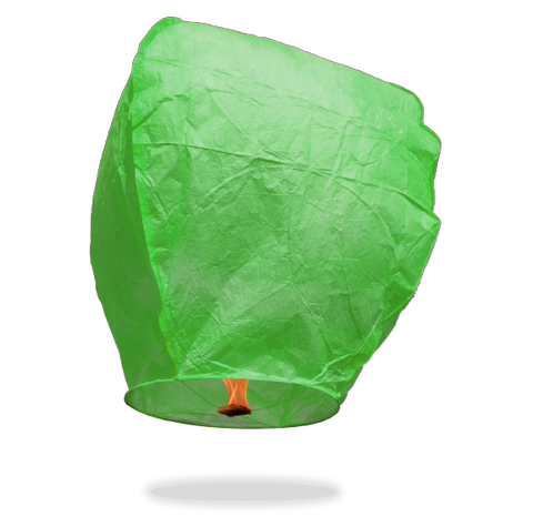 ECO Green Eclipse Sky Lanterns (Wire-Free).