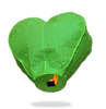 ECO Green Heart Sky Lanterns (Wire-Free)