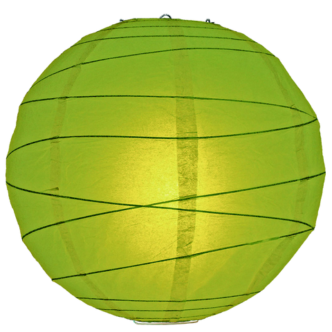 Green Criss Cross Paper Lanterns