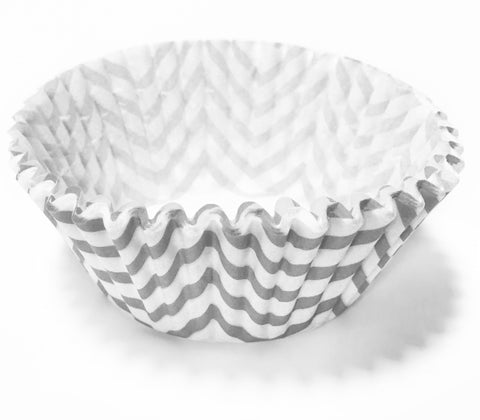 Grey Chevron 25pc Cupcake Liners