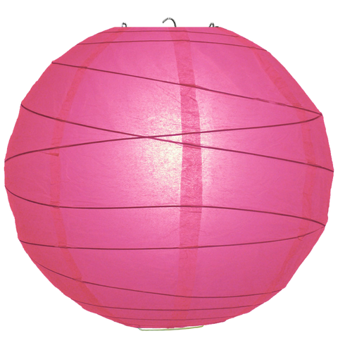 Hot Pink Criss Cross Paper Lanterns.