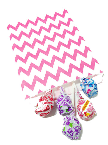Hot Pink Chevron 20pc Paper Bags