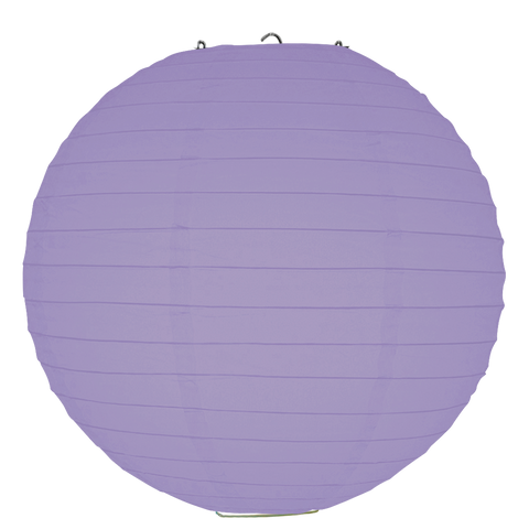 Lavender Ribbed Paper Lanterns