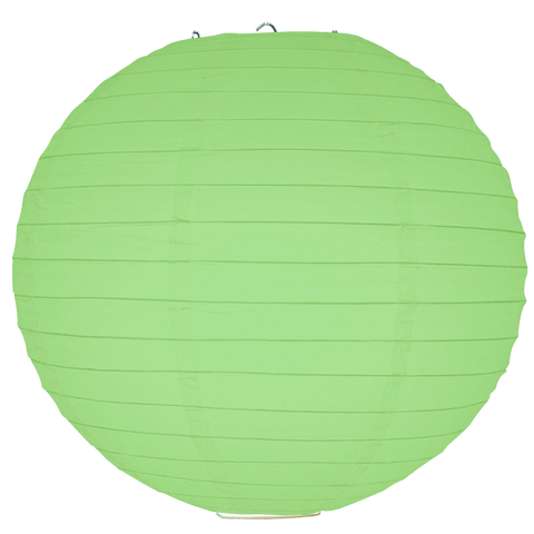 Light Green Ribbed Paper Lanterns