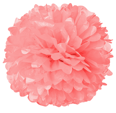 "6"" Light Pink Tissue Pom Poms."