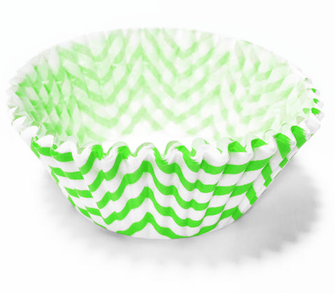 Lime Green Chevron 25pc Cupcake Liners