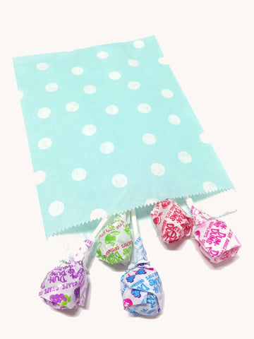 Light Blue Polka Dots 20pc Paper Bags