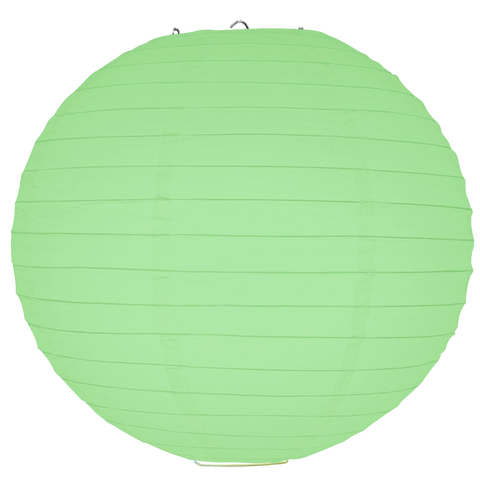 Mint Green Round Paper Lanterns.