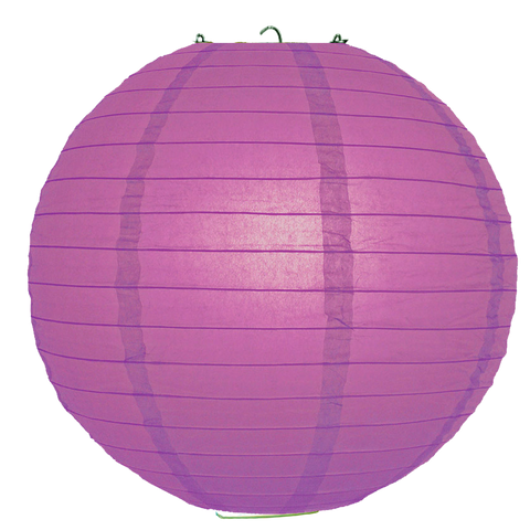 Mulberry Purple Ribbed Paper Lanterns
