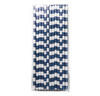 Navy Rugby Striped 25pc Paper Straws.
