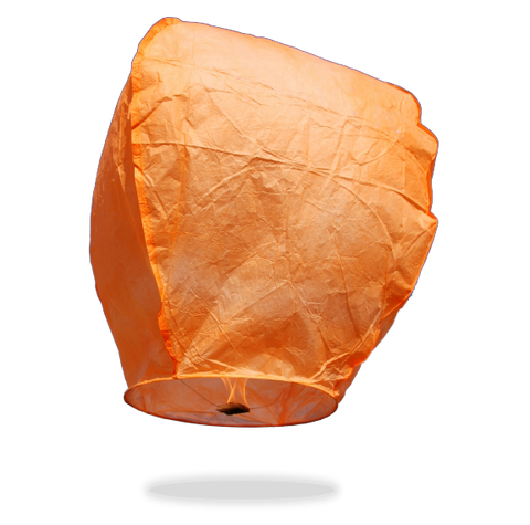 ECO Orange Eclipse Sky Lanterns (Wire-Free)
