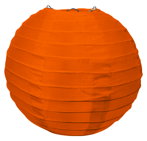 Orange Round Silk Lanterns