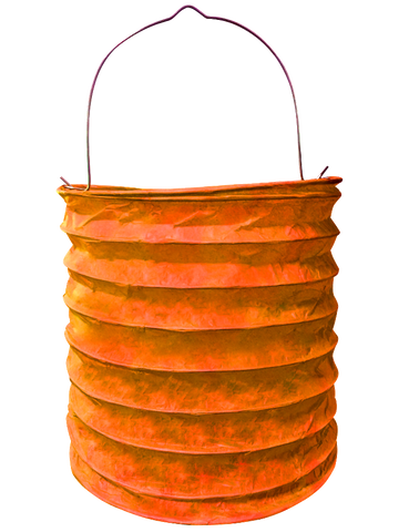 "6"" Orange Paper Candle Lanterns."