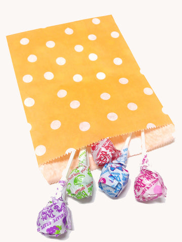 Orange Polka Dots 20pc Paper Bags