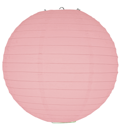 Pink Ribbed Paper Lanterns