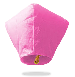 ECO Pink Diamond Sky Lanterns (Wire-Free)