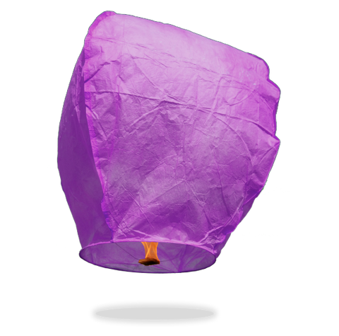 ECO Purple Eclipse Sky Lanterns (Wire-Free)