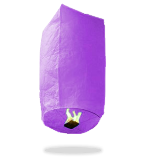 ECO Purple Cylinder Sky Lanterns (Wire-Free)