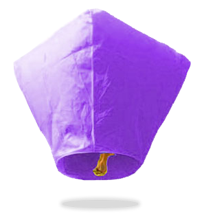 ECO Purple Diamond Sky Lanterns (Wire-Free)