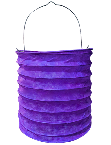 "6"" Purple Paper Candle Lanterns."