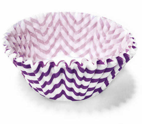 Purple Chevron 25pc Cupcake Liners