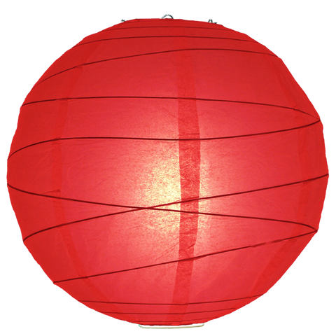 Red Criss Cross Paper Lanterns.