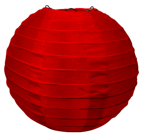 Red Round Silk Lanterns.