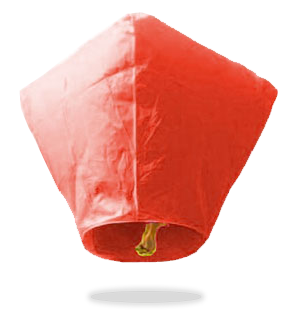 Red Diamond Sky Lanterns