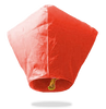 ECO Red Diamond Sky Lanterns (Wire-Free)