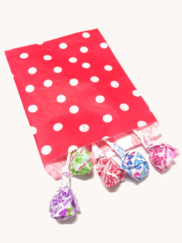 Red Polka Dots 20pc Paper Bags