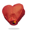 ECO Red Heart Sky Lanterns (Wire-Free)